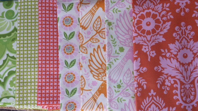 Heather Bailey Up Parasol fabrics