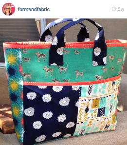 Form and Fabric Boxcar Tote